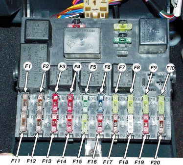 Схема предохранителей ВАЗ 2110