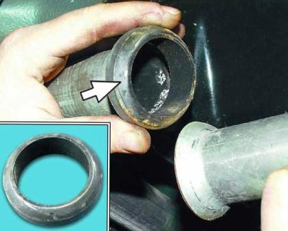Снимаем переднюю часть глушителя ВАЗ 2110, 2111, 2112