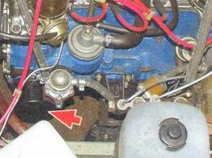 Расположение масляного фильтра ВАЗ 2106