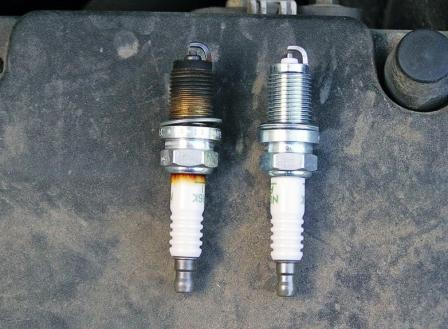 Новые и старые свечи Honda CR-V II