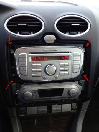 снятие овальной магнитолы ford focus 2