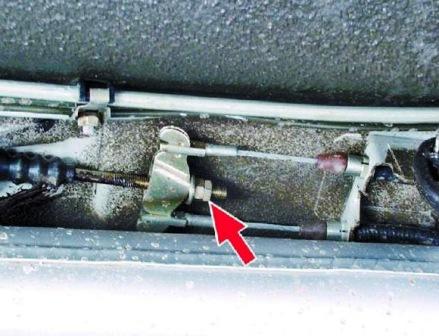Ослабляем контргайку ВАЗ 2108, 2109, 21099