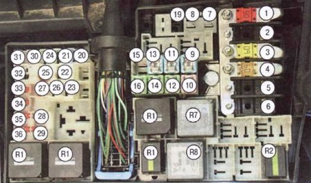 Схема электрическая форд скорпио фото 979